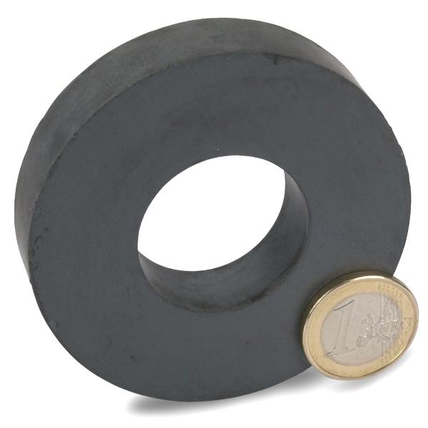 Ringmagnet Ø 72,0 x 32,0 x 15,0 mm Y35 Ferrit hält 6 kg